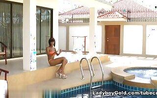 LadyboyGold Scene: Poolside Penetration