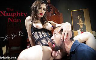 Korra Del Rio & DJ in The Naughty Nun: Korra Del Rio Punishes Disgraceful Sinner DJ - TSSeduction