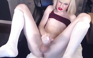 Girl with big penis sperms