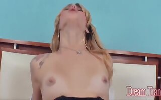 Flaxen-haired Tgirls Get Anally Stuffed up Compilation - Leticia Menezes, Carla Cardille And Monody Penelope