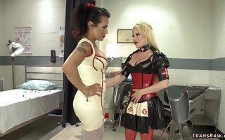 TS nurse all round latex nailing bombshell