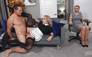 Caught Thrashing With Tattooed American Maid With Pierce Paris Coupled with Emma Rose