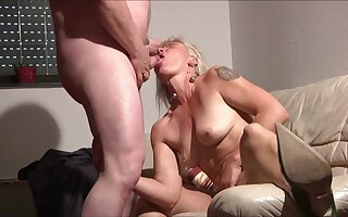 Blonde Grown up with homemade hardcore with cum with frowardness
