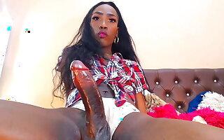 Nubian Princess strokes that anaconda